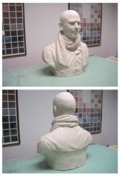 Plaster model made by the sculptor