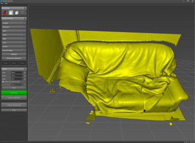 Sofa (scanned with D415 and 2Gb videomemory)